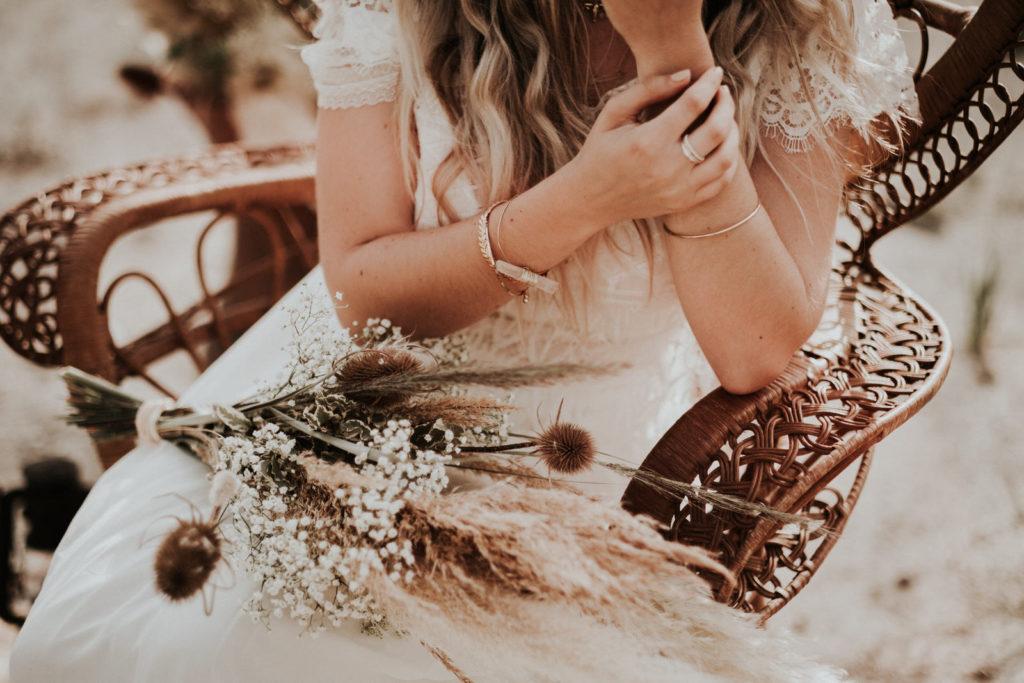 Shooting inspiration mariage bohème été, mariée bohème, boho summer bride