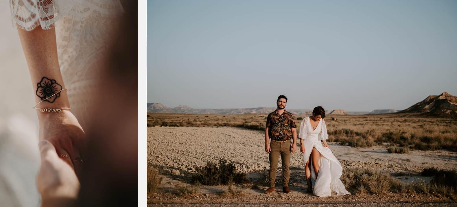 mariage espagne bardenas festival you and me elopement photographe bel esprit desert 0034