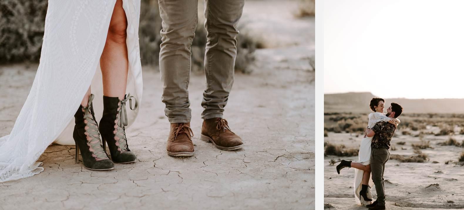 mariage espagne bardenas festival you and me elopement photographe bel esprit desert 0035