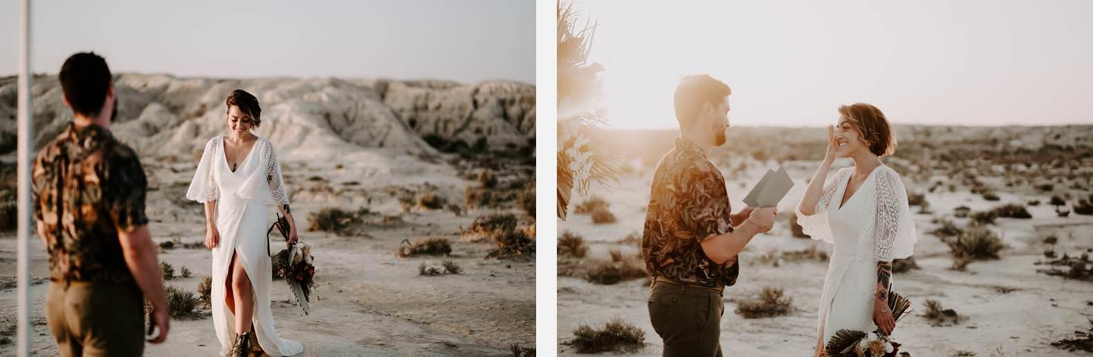 mariage espagne bardenas festival you and me elopement photographe bel esprit desert 0043