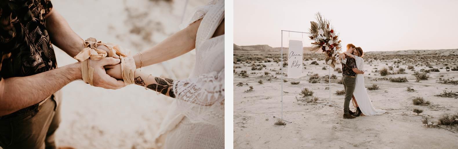 mariage espagne bardenas festival you and me elopement photographe bel esprit desert 0048